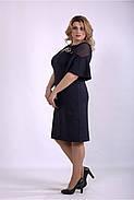 / Размер 42-74 / Женское темно синее платье из костюмки 01150, фото 3