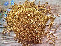 Жемчуг искусственный, 4 мм, цвет золото, 10 грамм (~340 шт).