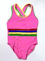 Купальник спортивный для плавания розовый на рост 125 см