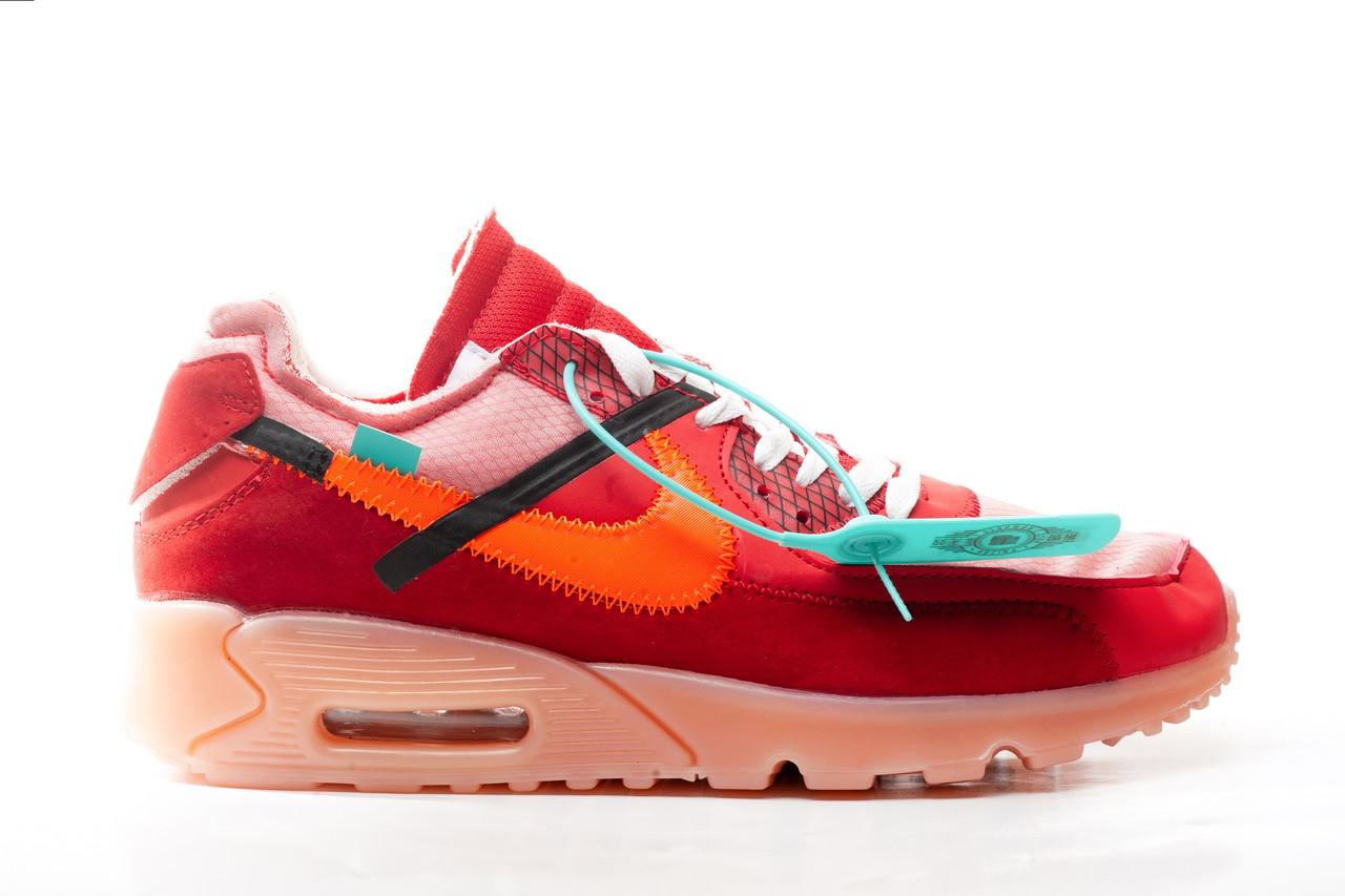 cb7a020c Купить Мужские кроссовки Nike Air Max 90 x Off White Red 1 410 грн ...