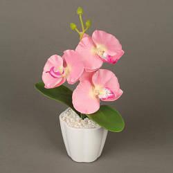 Декоративный цветок с подсветкой в горшочке Орхидея