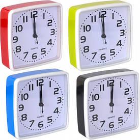 Настольные часы - будильник 14×14×4 см
