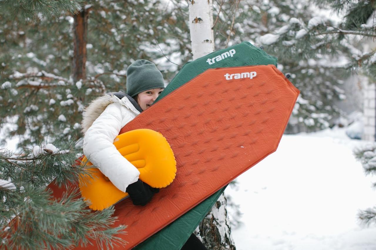 Килим самонадувний Tramp Ultralight TPU оранж. Карімат. Коврик самонадувний. Килимок