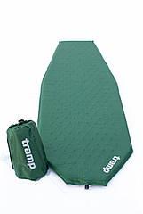 Килим самонадувний Tramp Ultralight TPU зелений. Карімат. Самонадувний коврик. Килимок.