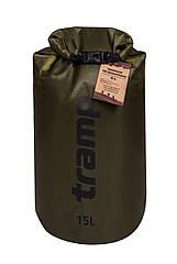 Гермомешок Tramp PVC Diamond Rip-Stop оливковый 15 л. гермомешок. водонепроницаемая упаковка