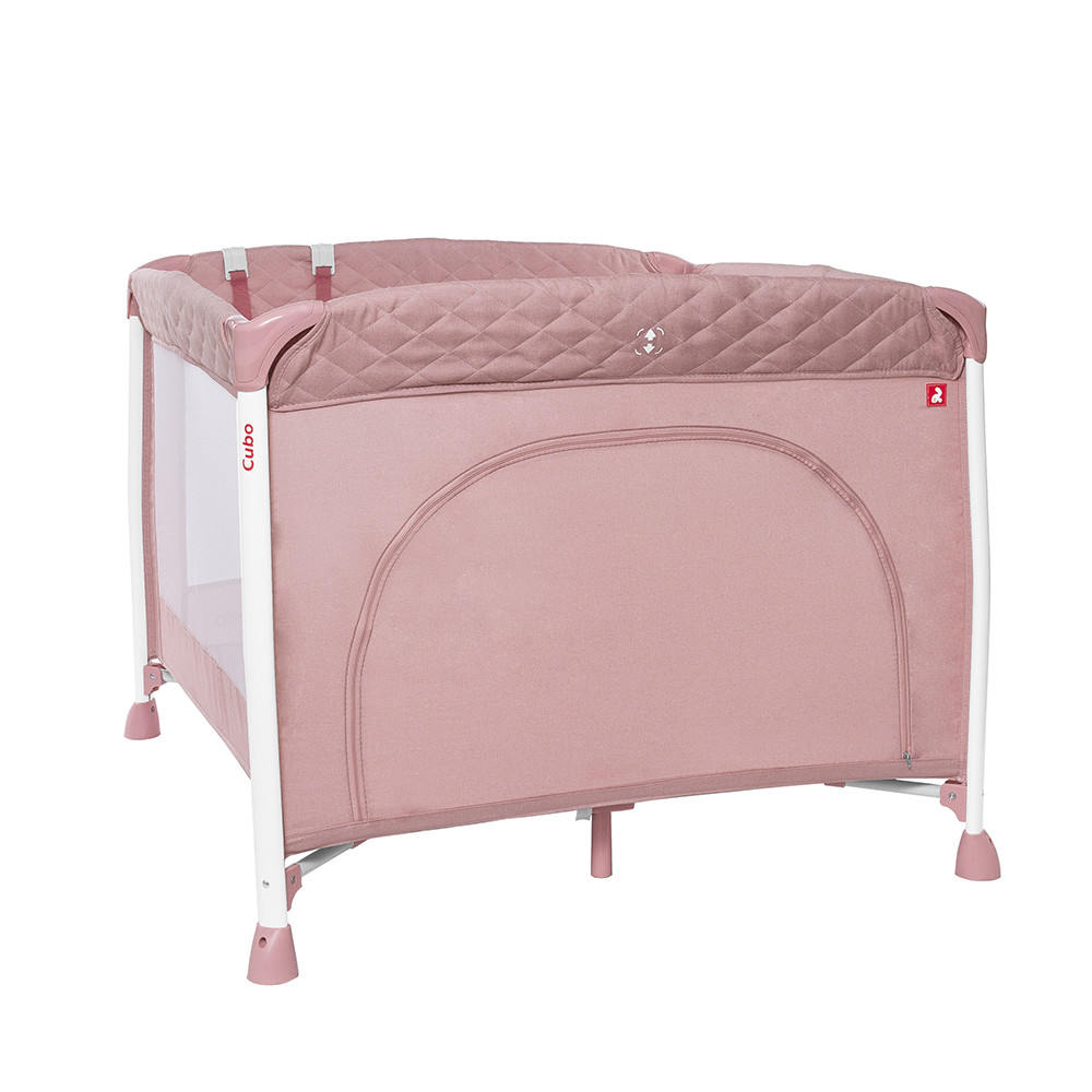 Детский манеж  CARRELLO Cubo /2019/ Flamingo Pink