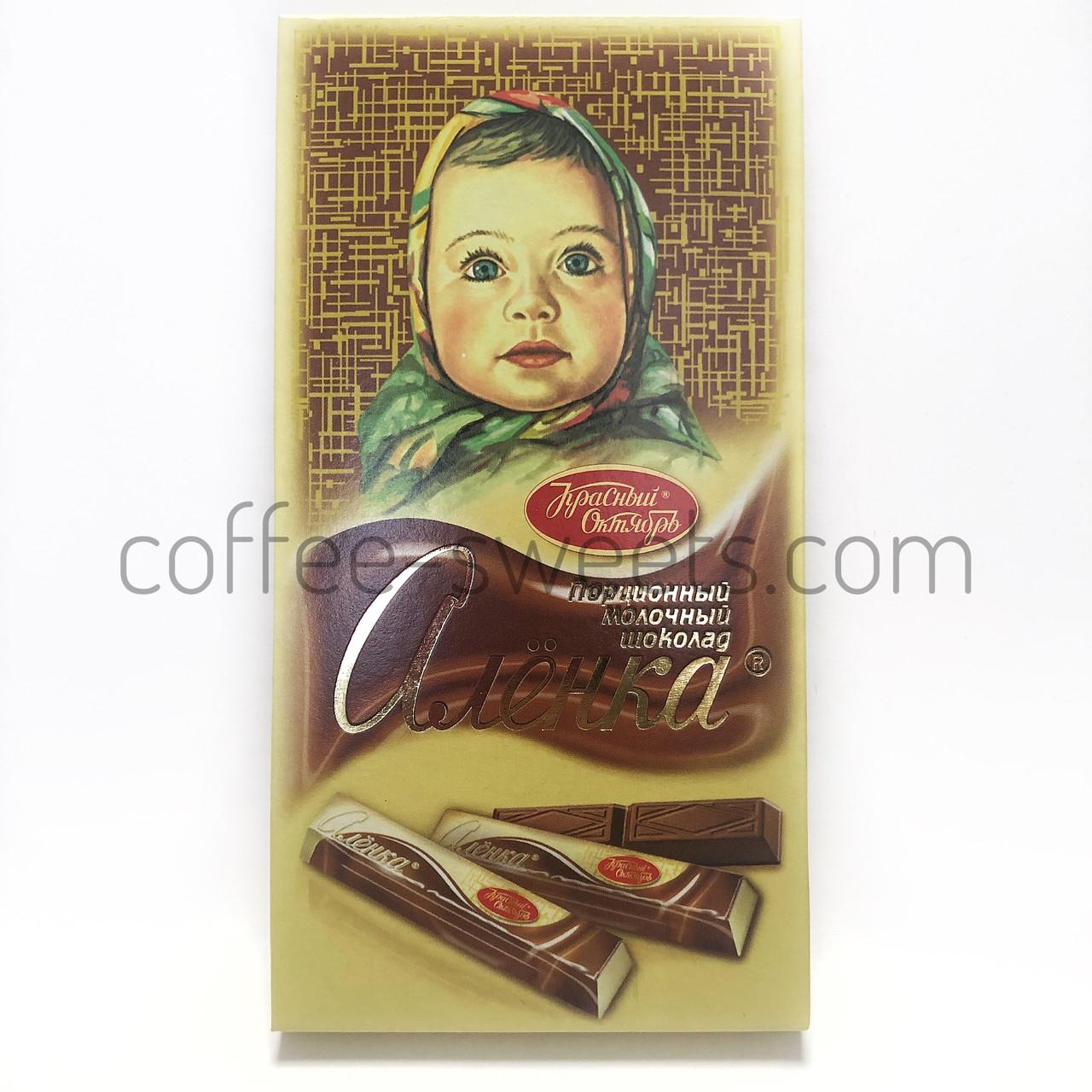 Шоколад Алёнка 100г Порционный молочный Красный Октябрь