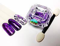 Втирка хлопья Юки для дизайна ногтей Global Professional № 008