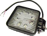 Фара LED квадратная 24W, 8 ламп, 110*110мм, широкий луч 12/24V 6000K (ТМ JUBANA)