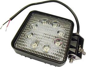 Фара LED квадратна 24W, 8 ламп, 110*110мм, широкий промінь 12/24V 6000K (ТМ JUBANA)