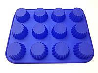 Форма силиконовая для выпечки кексов 31см х 24см