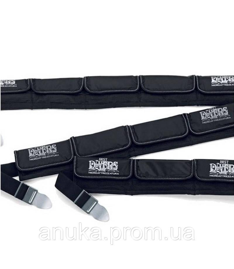 Грузовой пояс Best Divers Belt  s. steel 5 Pockets black (ZI0123) - Экшен Стайл и Анука™ в Днепре