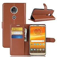 Чехол-книжка Litchie Wallet для Motorola Moto E5 Plus XT1924 Коричневый