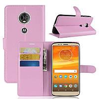 Чехол-книжка Litchie Wallet для Motorola Moto E5 Plus XT1924 Светло-розовый