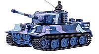 Танк микро на радиоуправлении 1к72 Tiger со звуком, хаки синий - 139914