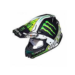 Мотошлем Suomy Casco Mr Jump Monster Matt XXL Черный с зеленым KSMJ0015.7, КОД: 256855