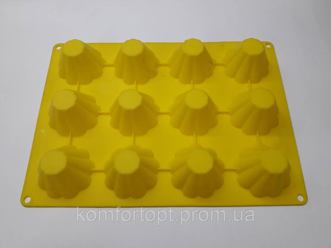 Форма силиконовая для выпечки кексов 23см х 32см