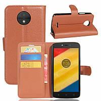 Чехол-книжка Litchie Wallet для Motorola Moto C XT1750 Коричневый, фото 1