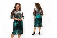 Вечернее платье женское Пайетки на подкладе Размер  52 54 56 58 60 В наличии 5 цветов, фото 1