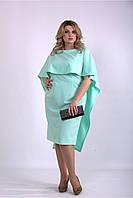 / Размер 42-74 / Женское оригинальное красивое платье мятного цвета 01144
