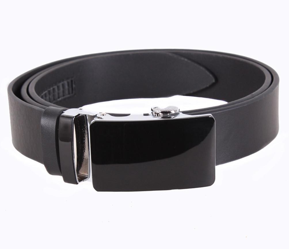 Мужской кожаный ремень Dovhani A111-1А 115-125 см Черный