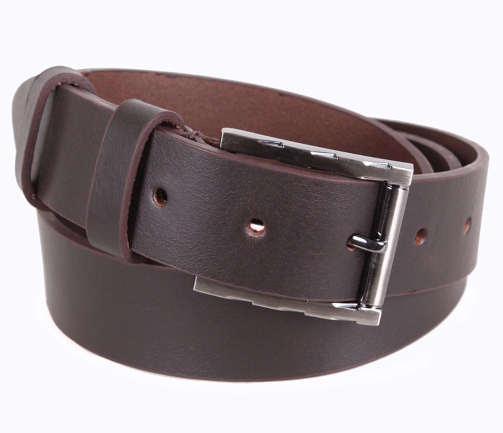 Мужской кожаный ремень Dovhani LD666-3С 115-125 см Коричневый