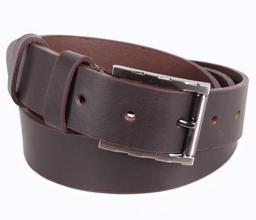 Мужской кожаный ремень Dovhani LD666-3С 115-125 см Коричневый, фото 2
