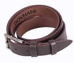 Мужской кожаный ремень Dovhani LD666-3С 115-125 см Коричневый, фото 3
