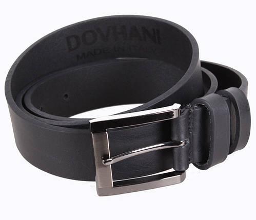 Мужской кожаный ремень Dovhani LD666-66 115-125 см Черный, фото 2