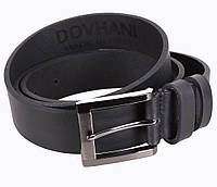 Мужской кожаный ремень Dovhani LD666-66 115-125 см Черный, фото 1