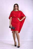 / Размер 42-74 / Женское оригинальное красивое платье алого цвета 01144
