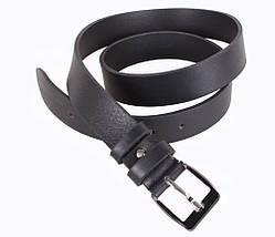 Мужской кожаный ремень Dovhani LD666-101 115-125 см Черный, фото 2
