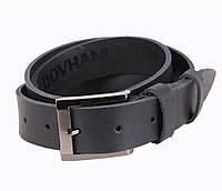 Мужской кожаный ремень Dovhani SP999-66 115-125 см Черный, фото 1