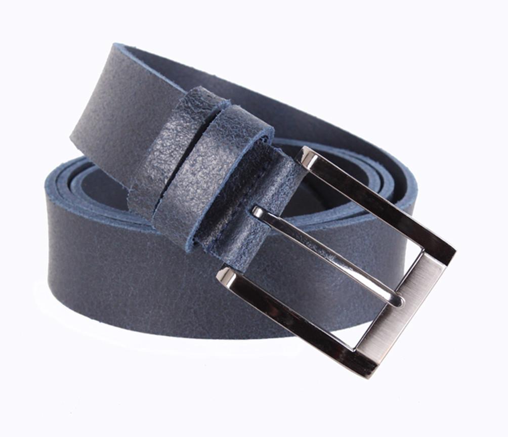 Мужской кожаный ремень Dovhani SP999-77 115-125 см Синий