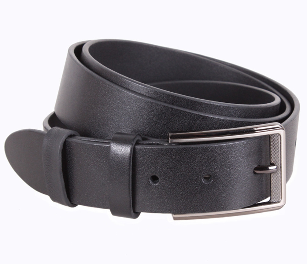 Мужской кожаный ремень Dovhani UK888-99 115-125 см Черный