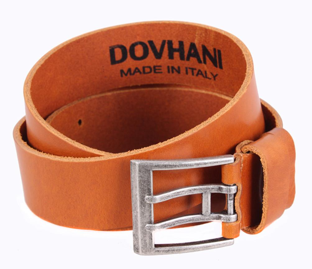 Мужской кожаный ремень Dovhani LD666-110 115-125 см Рыжий, фото 1
