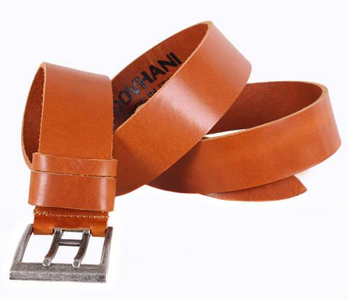 Мужской кожаный ремень Dovhani LD666-110 115-125 см Рыжий, фото 2