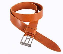 Мужской кожаный ремень Dovhani LD666-110 115-125 см Рыжий, фото 3