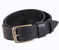 Мужской кожаный ремень Dovhani LD666-125 115-125 см Черный, фото 1