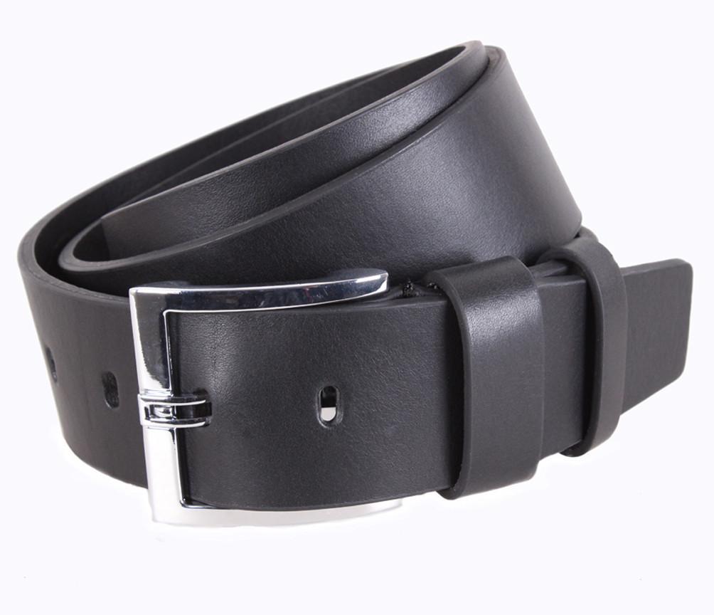 Мужской кожаный ремень Dovhani LD666-133 115-125 см Черный