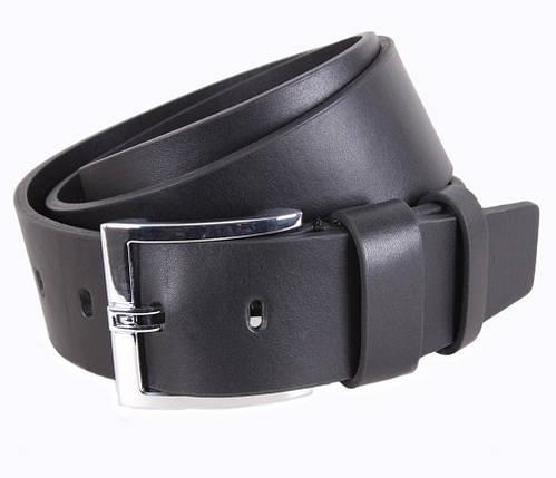 Мужской кожаный ремень Dovhani LD666-133 115-125 см Черный, фото 2