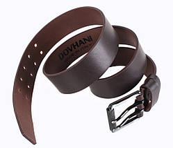 Мужской кожаный ремень Dovhani LD666-155 115-125 см Коричневый, фото 2