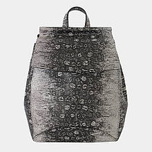 Сумка-рюкзак жіноча з натуральної шкіри (чорно-біла) / Сумка-рюкзак женская из натуральной кожи (черно-белая)