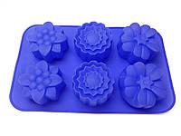 """Форма силиконовая для выпечки """"Цветы"""" 28см х 17см"""