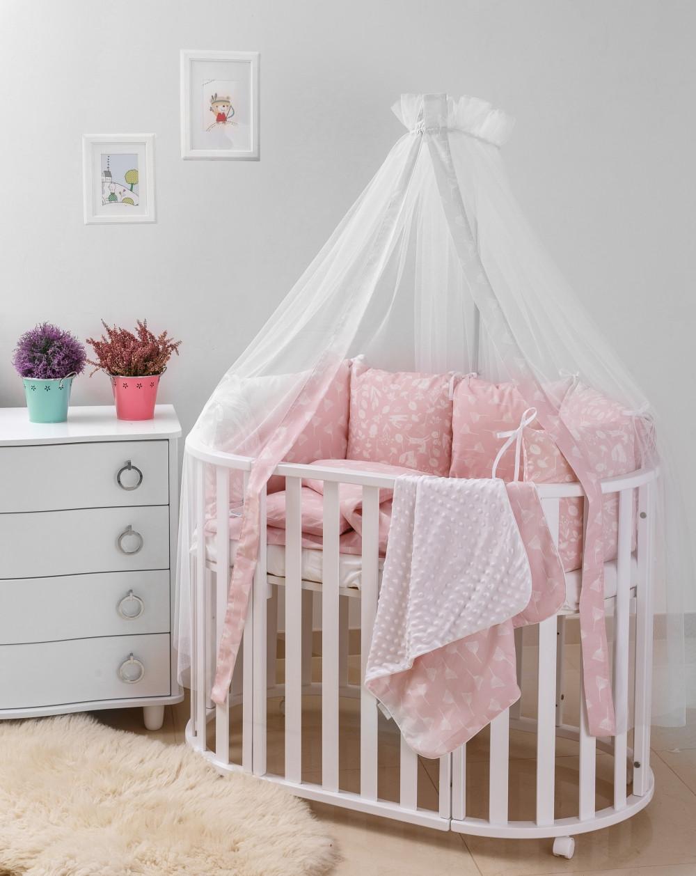 Детская постель Twins Dolce D-013 Лісові мешканці 8 ел pink