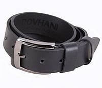 Мужской кожаный ремень Dovhani LD666-211 115-125 см Черный, фото 1