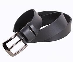 Мужской кожаный ремень Dovhani LD666-211 115-125 см Черный, фото 3