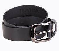 Мужской кожаный ремень Dovhani LD666-228 115-125 см Черный, фото 1