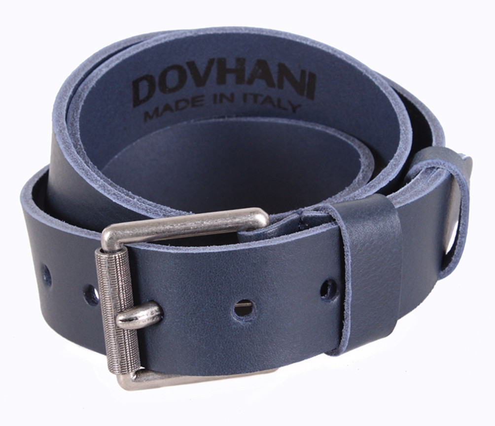 Мужской кожаный ремень Dovhani LD666-244 115-125 см Синий