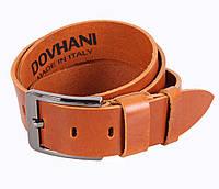 Мужской кожаный ремень Dovhani LD666-255 115-125 см Рыжий, фото 1